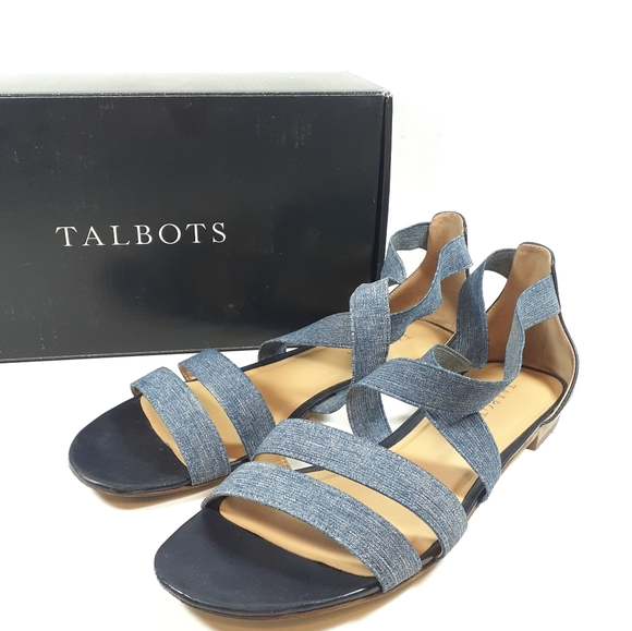 Talbots Shoes - Talbots Denim Elastic Sandals Sz 9.5 USED Lamar
